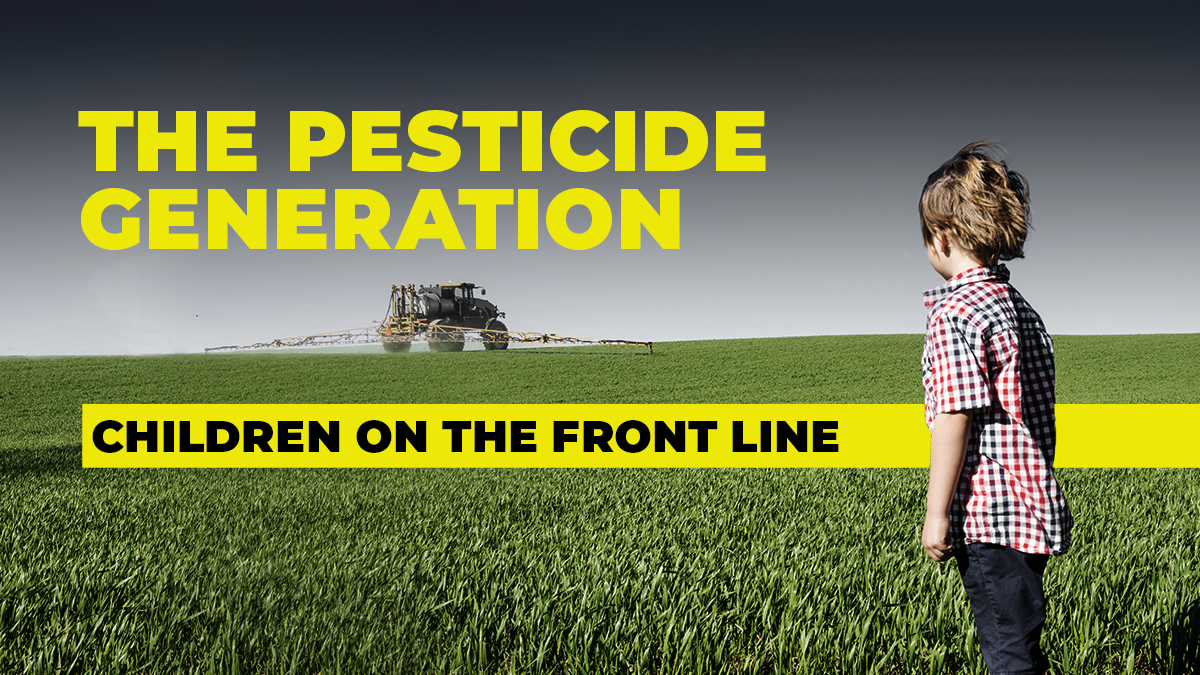 The pesticide generation: children on the front line