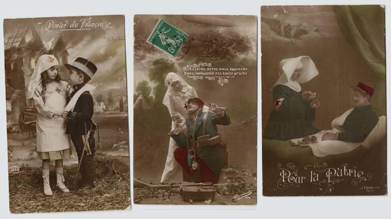 ... 14/18 ... Carte-postale-croixrouge-jeunes