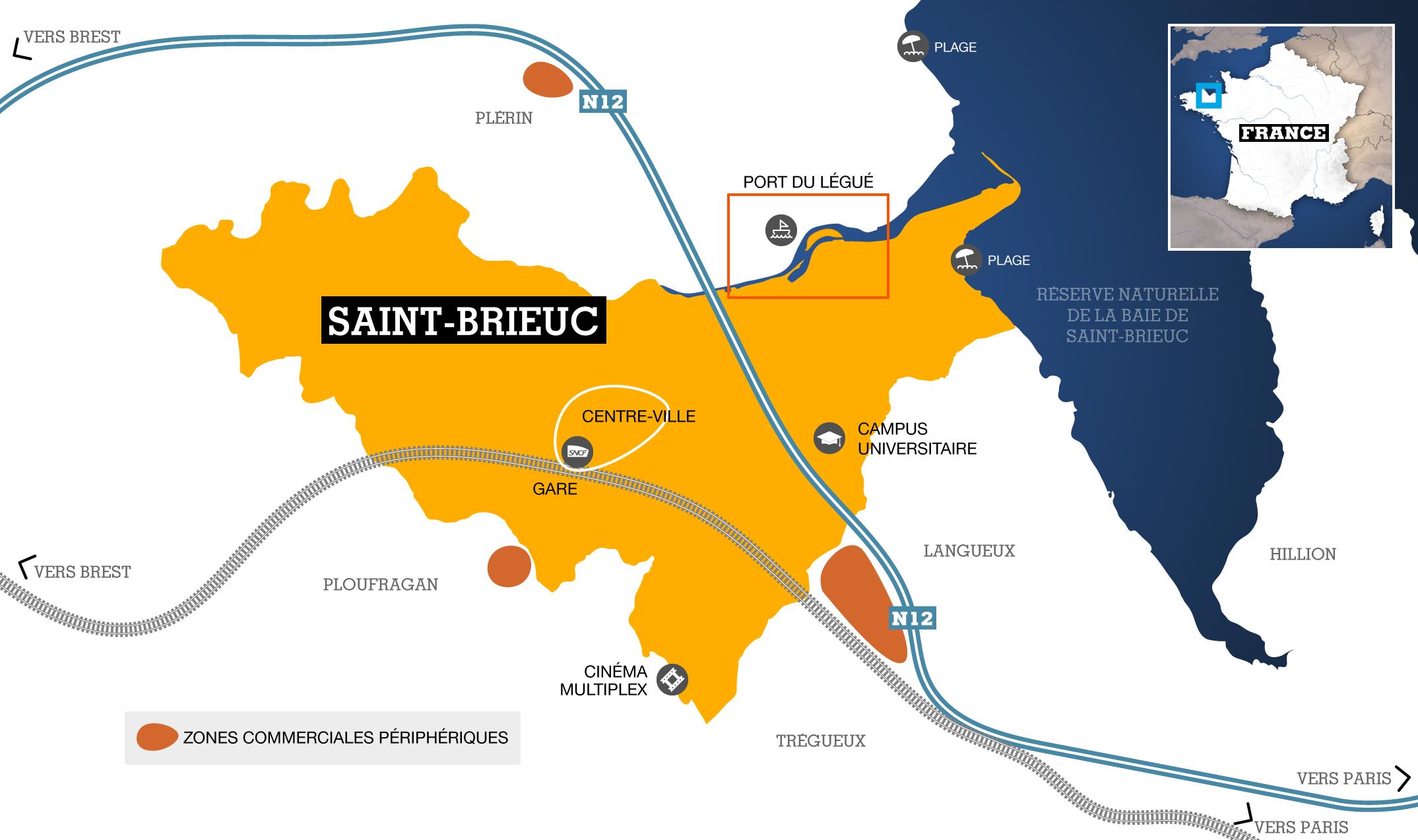 Etude de Saint-Brieuc - Blog de classeprepa72 et terminal72  |Saint Brieuc Carte