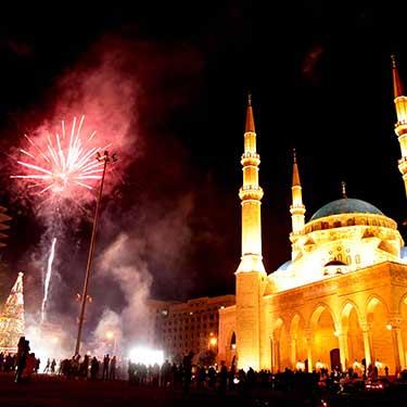 بالقرب من مسجد محمد الأمين في بيروت - لبنان